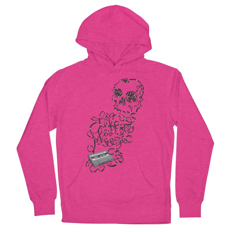 Music is Life Men's French Terry Pullover Hoody by Jason Castillo Illustration