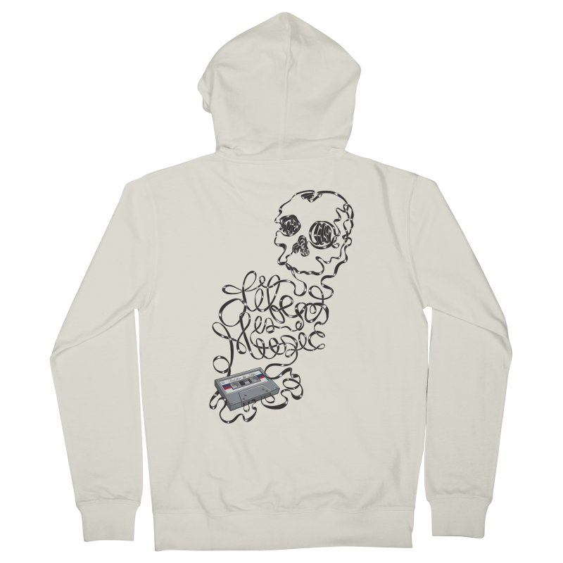 Music is Life Women's French Terry Zip-Up Hoody by Jason Castillo Illustration