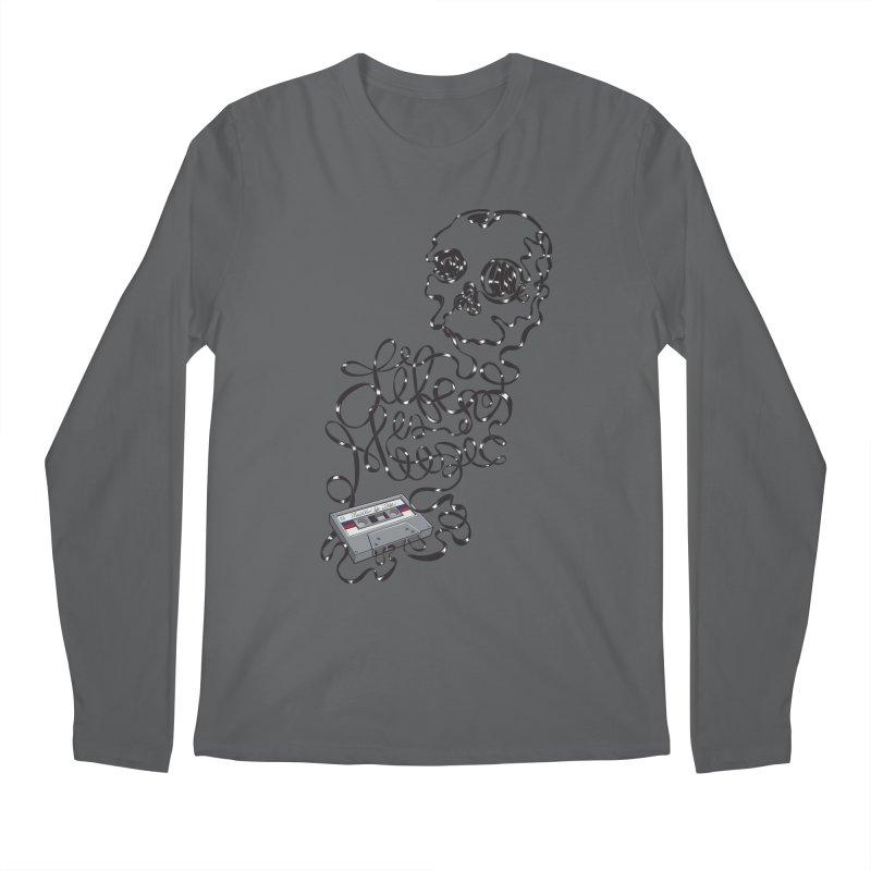 Music is Life Men's Regular Longsleeve T-Shirt by Jason Castillo Illustration
