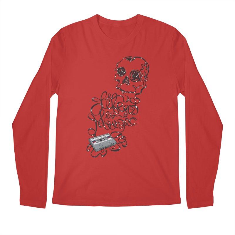 Music is Life Men's Longsleeve T-Shirt by Jason Castillo Illustration