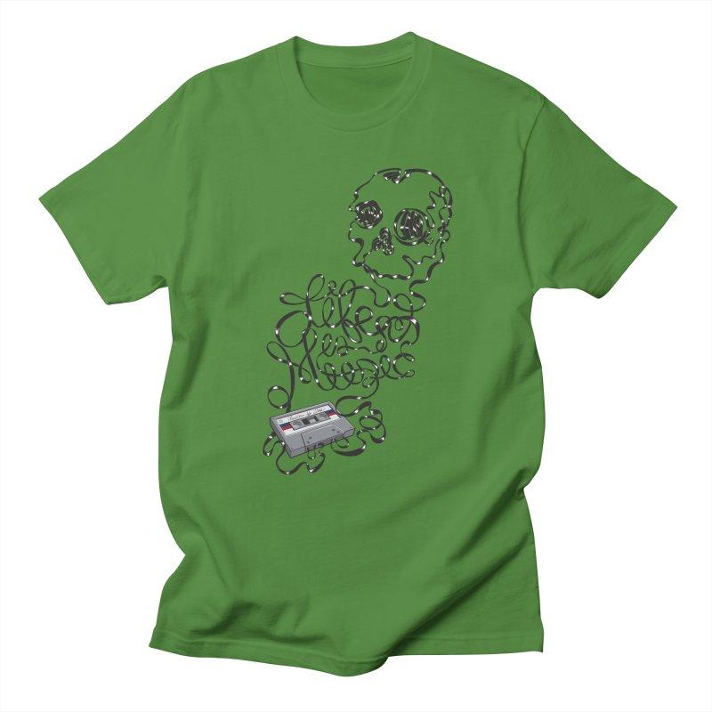 Music is Life Men's T-shirt by Jason Castillo Illustration