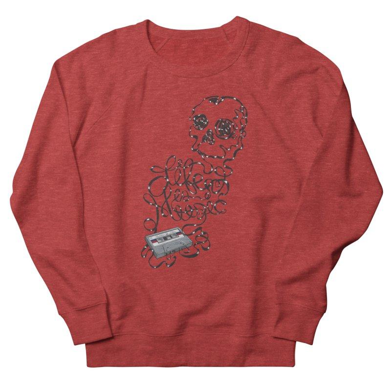 Music is Life Women's French Terry Sweatshirt by Jason Castillo Illustration