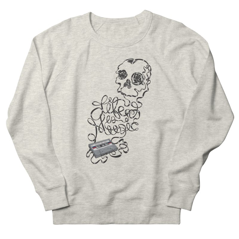 Music is Life Men's French Terry Sweatshirt by Jason Castillo Illustration