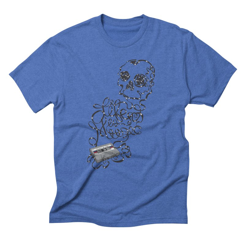 Music is Life Men's Triblend T-Shirt by Jason Castillo Illustration