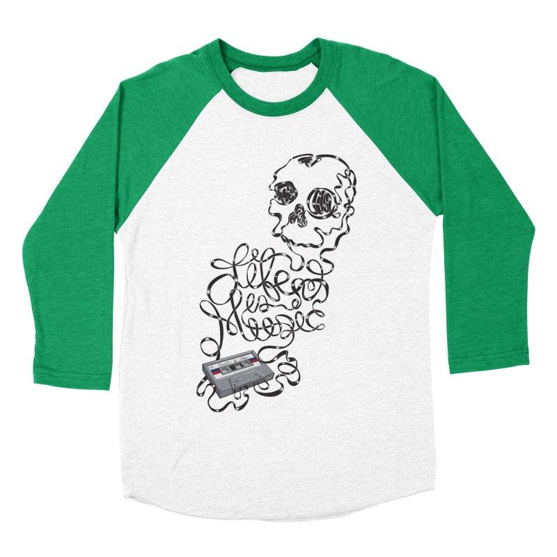 Music is Life Women's Baseball Triblend Longsleeve T-Shirt by Jason Castillo Illustration