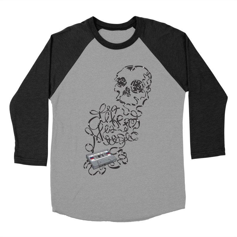 Music is Life Men's Baseball Triblend T-Shirt by Jason Castillo Illustration