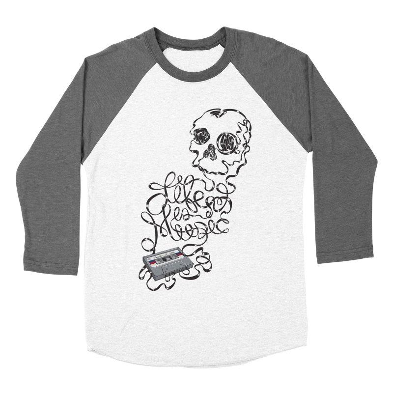 Music is Life Men's Baseball Triblend Longsleeve T-Shirt by Jason Castillo Illustration