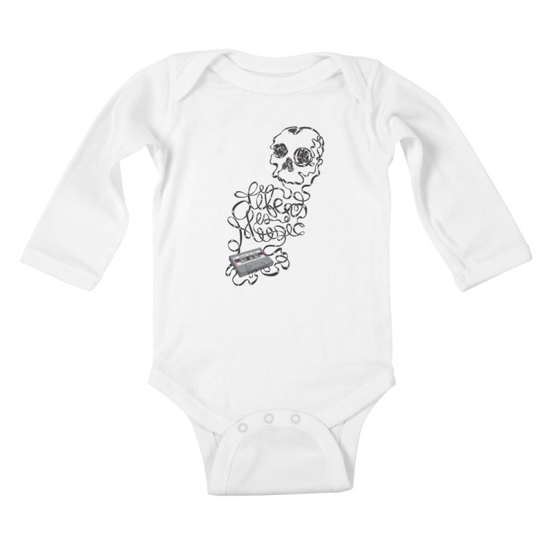 Music is Life Kids Baby Longsleeve Bodysuit by Jason Castillo Illustration