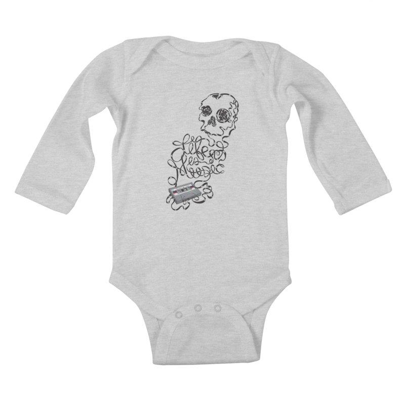 Music is Life Kids Baby Longsleeve Bodysuit by Jason Castillo Illustration