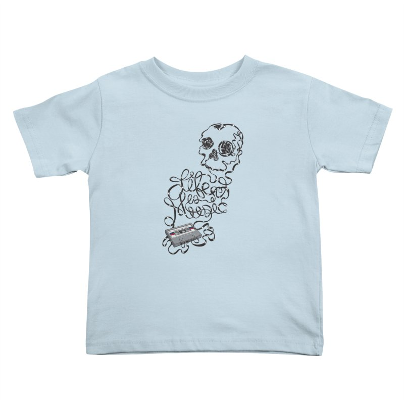 Music is Life Kids Toddler T-Shirt by Jason Castillo Illustration