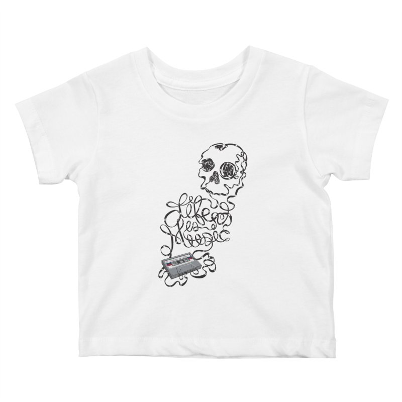 Music is Life Kids Baby T-Shirt by Jason Castillo Illustration