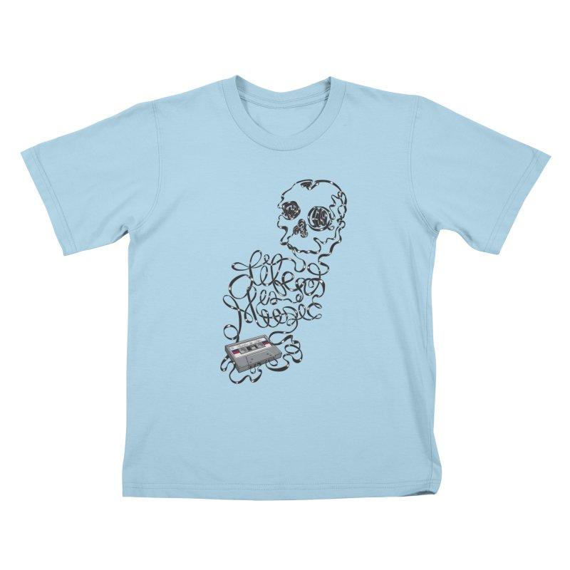 Music is Life Kids T-shirt by Jason Castillo Illustration