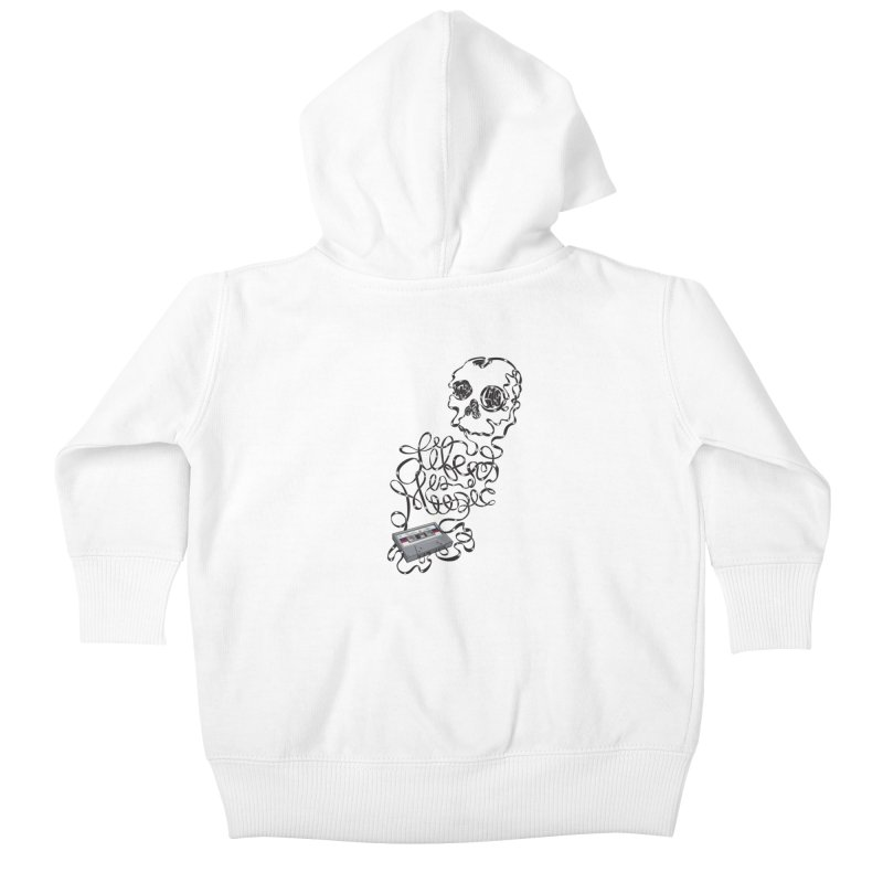 Music is Life Kids Baby Zip-Up Hoody by Jason Castillo Illustration
