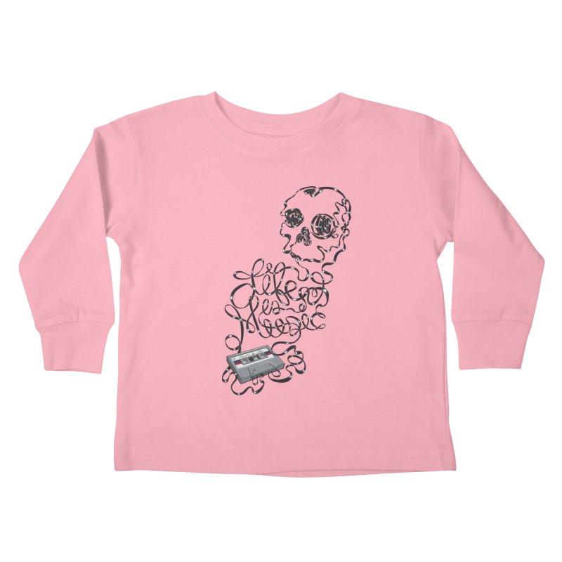 Music is Life Kids Toddler Longsleeve T-Shirt by Jason Castillo Illustration