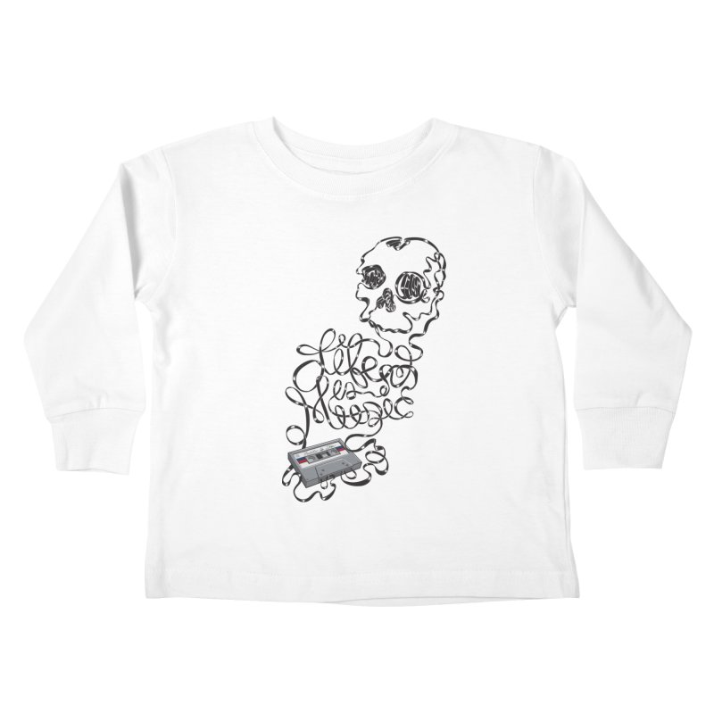 Music is Life Kids Toddler Longsleeve T-Shirt by Jason Castillo Illustration
