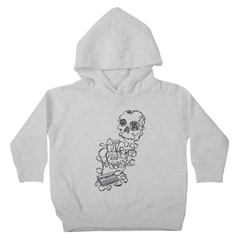 Music is Life Kids Toddler Pullover Hoody by Jason Castillo Illustration