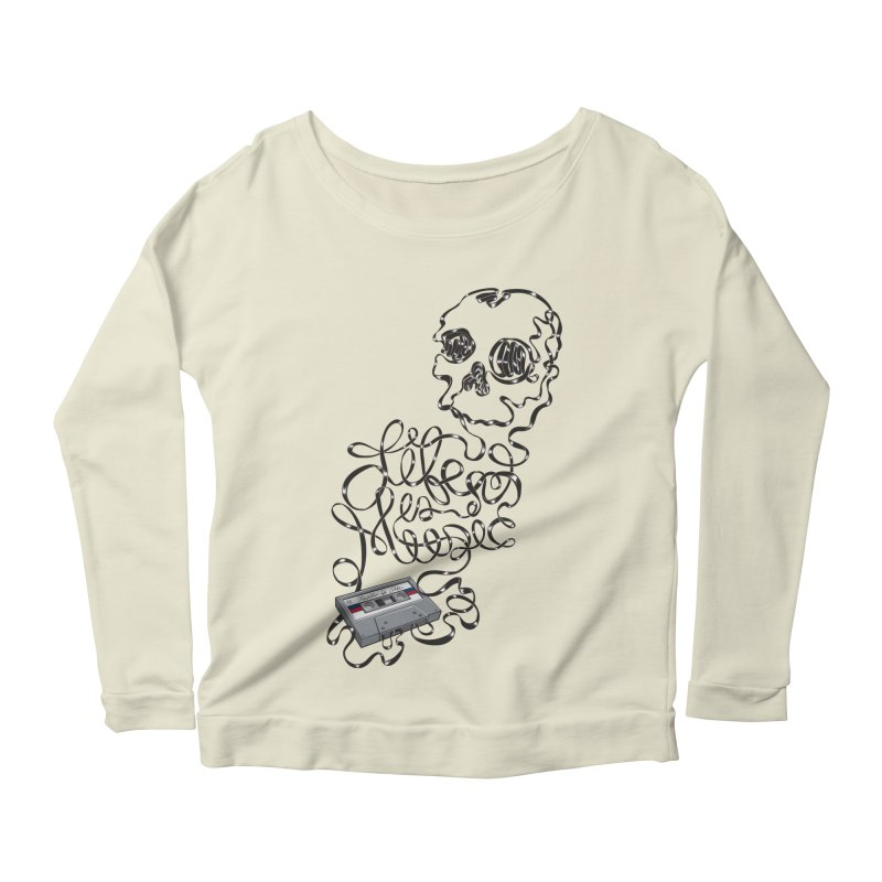 Music is Life Women's Longsleeve Scoopneck  by Jason Castillo Illustration