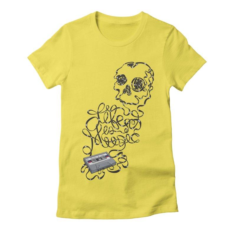 Music is Life Women's T-Shirt by Jason Castillo Illustration