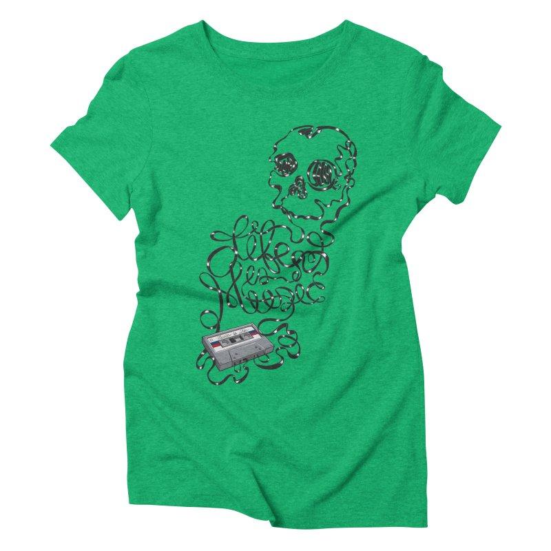 Music is Life Women's Triblend T-Shirt by Jason Castillo Illustration