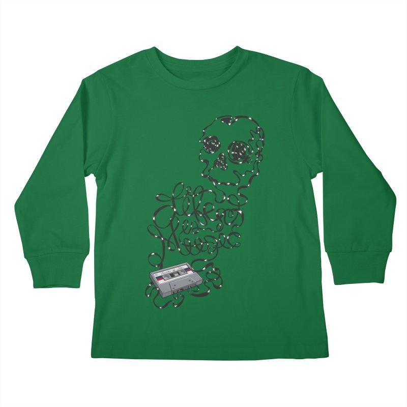 Music is Life Kids Longsleeve T-Shirt by Jason Castillo Illustration