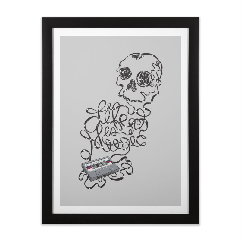 Music is Life Home Framed Fine Art Print by Jason Castillo Illustration