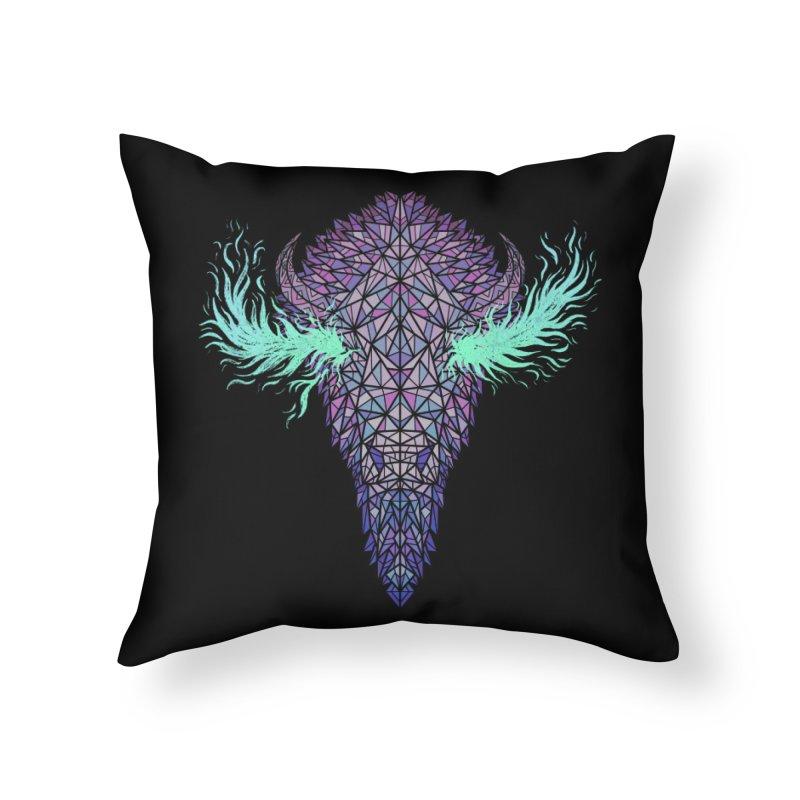 Buffalo Spirit Home Throw Pillow by Jason Castillo Illustration