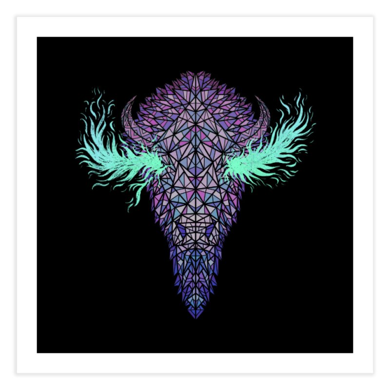 Buffalo Spirit Home Fine Art Print by Jason Castillo Illustration