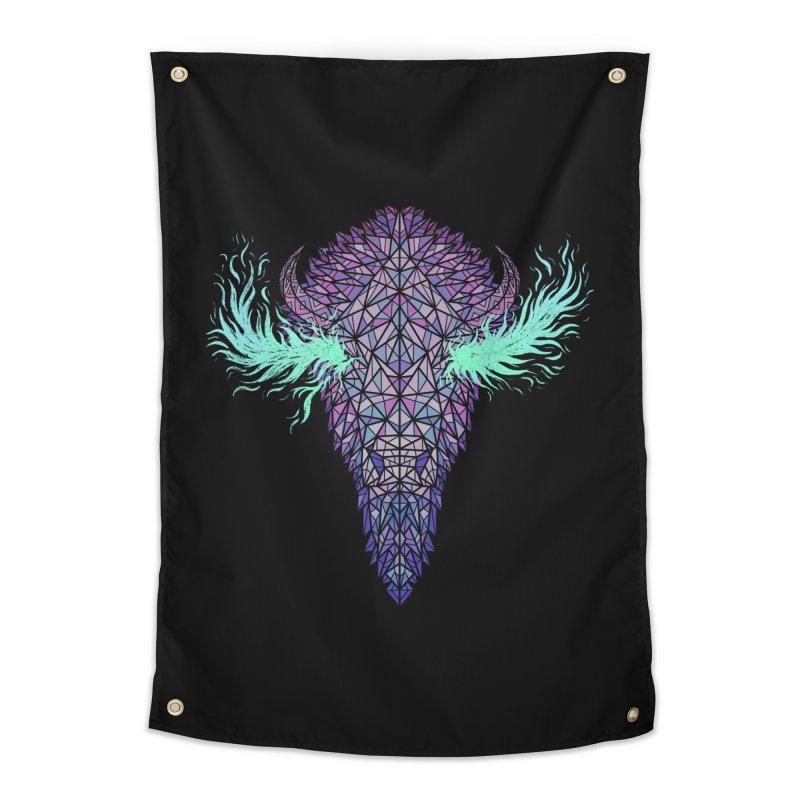 Buffalo Spirit Home Tapestry by Jason Castillo Illustration