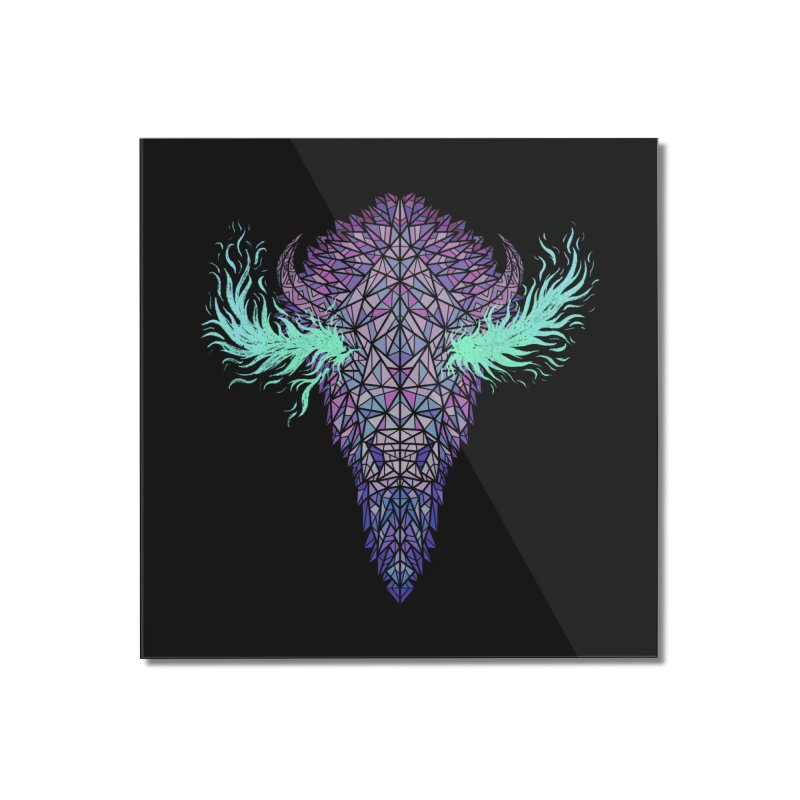 Buffalo Spirit Home Mounted Acrylic Print by Jason Castillo Illustration