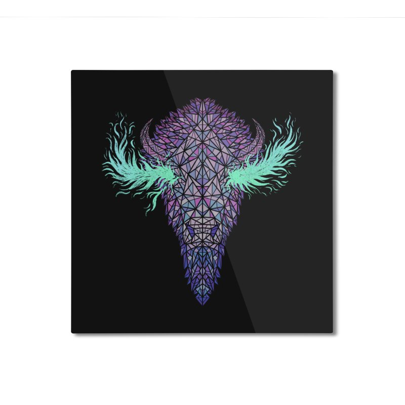 Buffalo Spirit Home Mounted Aluminum Print by Jason Castillo Illustration