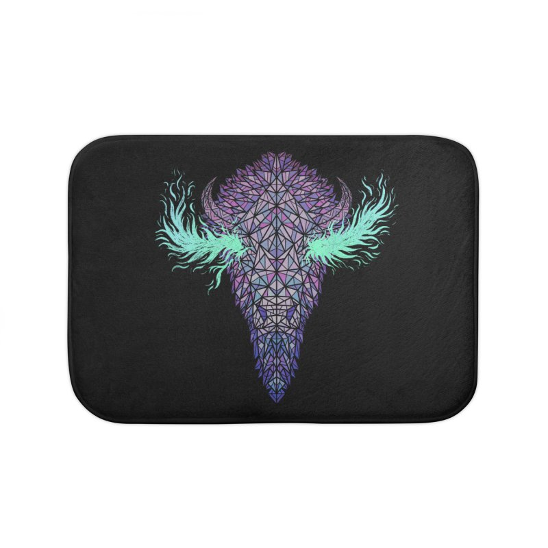 Buffalo Spirit Home Bath Mat by Jason Castillo Illustration