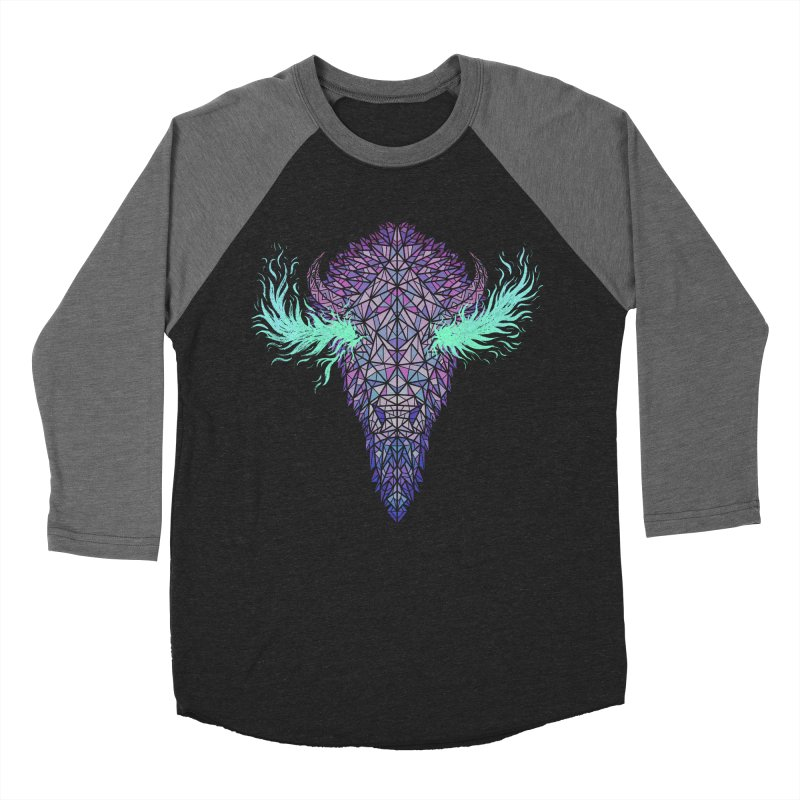 Buffalo Spirit Men's Baseball Triblend Longsleeve T-Shirt by Jason Castillo Illustration