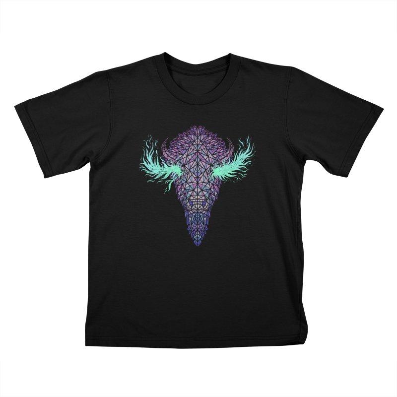 Buffalo Spirit Kids T-Shirt by Jason Castillo Illustration