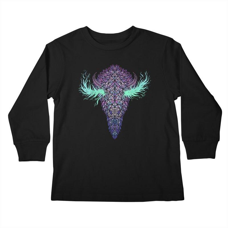 Buffalo Spirit Kids Longsleeve T-Shirt by Jason Castillo Illustration