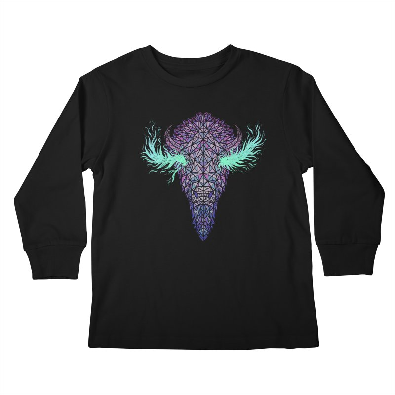 Buffalo Spirit Kids Longsleeve T-Shirt by Jason Castillo Illustration