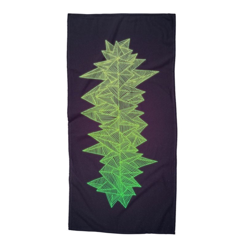 Green Monolith Accessories Beach Towel by Jason Castillo Illustration