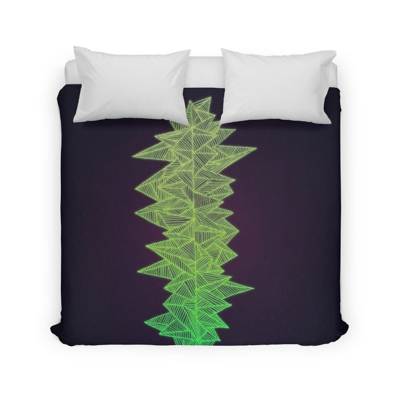 Green Monolith Home Duvet by Jason Castillo Illustration