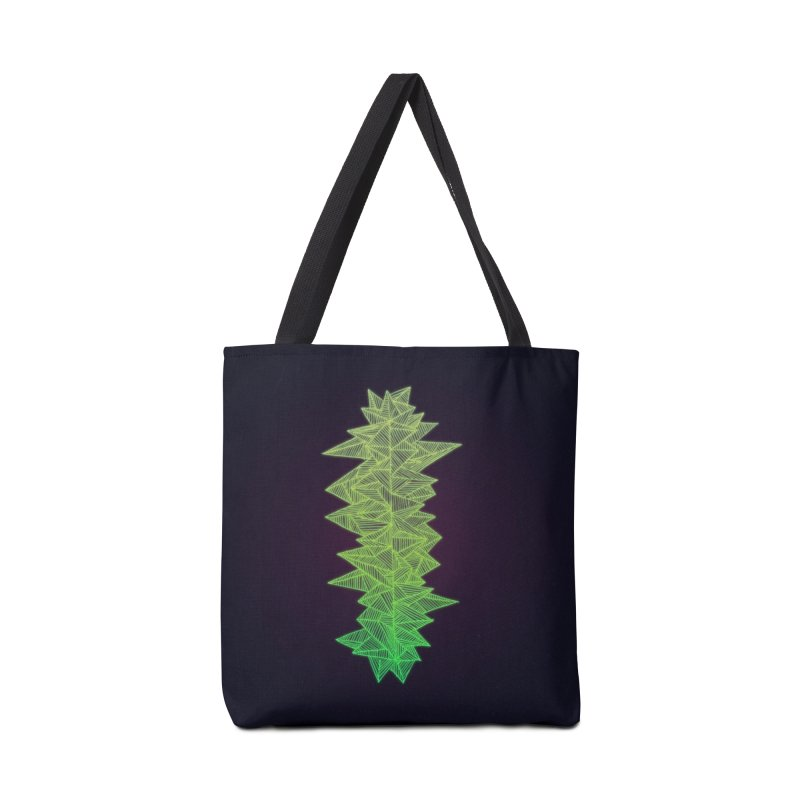 Green Monolith Accessories Bag by Jason Castillo Illustration