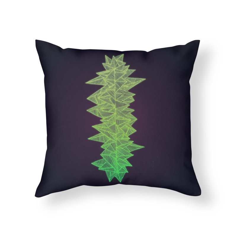 Green Monolith Home Throw Pillow by Jason Castillo Illustration