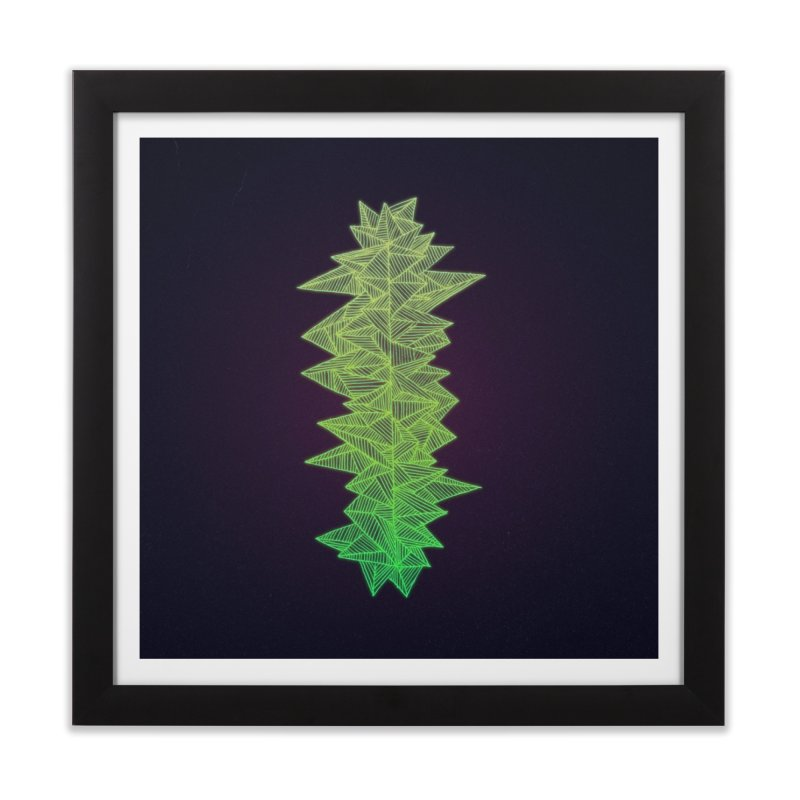 Green Monolith Home Framed Fine Art Print by Jason Castillo Illustration