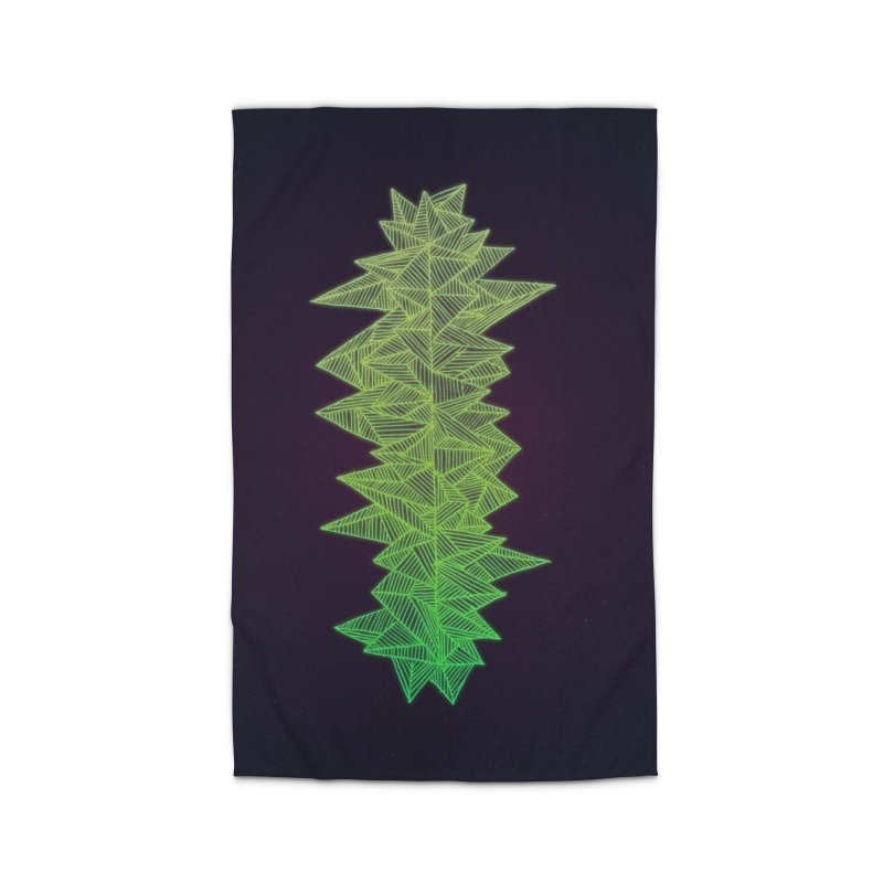 Green Monolith Home Rug by Jason Castillo Illustration