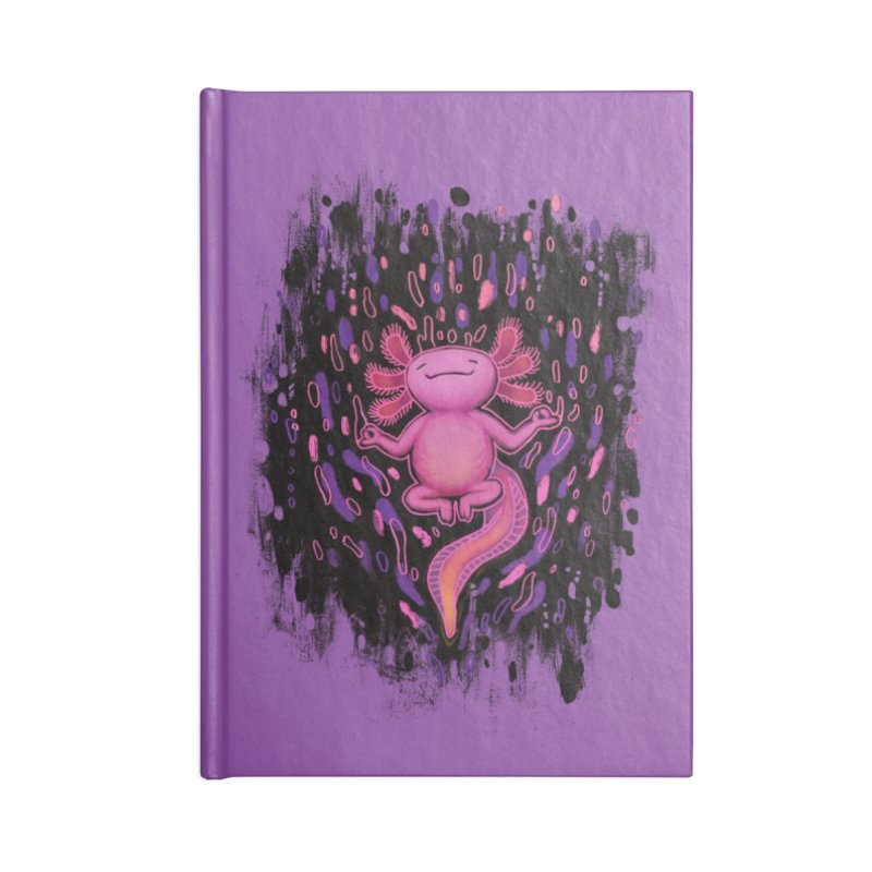 Relaxxie the Axolotl Accessories Lined Journal Notebook by Jason Castillo Illustration
