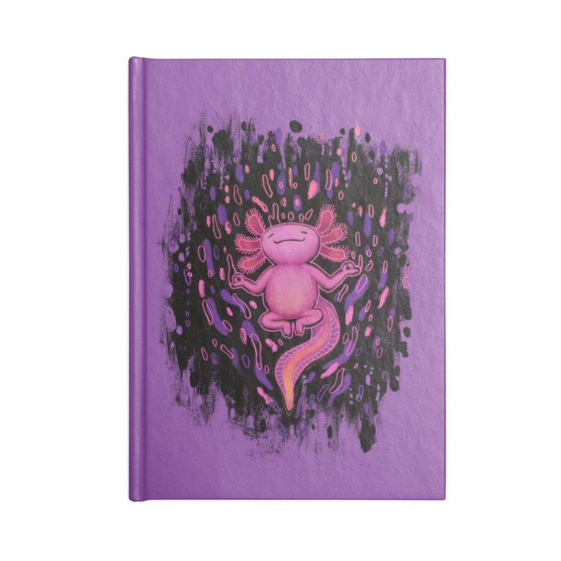 Relaxxie the Axolotl Accessories Notebook by Jason Castillo Illustration
