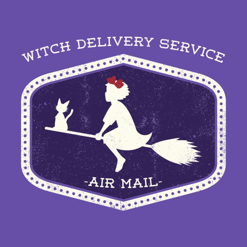 Witch Delivery Service Women's Fitted T-Shirt by jasoncryer's Artist Shop