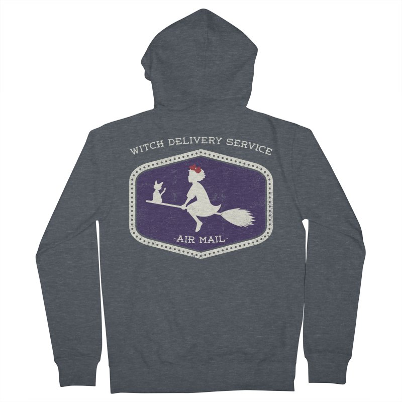 Witch Delivery Service Women's French Terry Zip-Up Hoody by jasoncryer's Artist Shop
