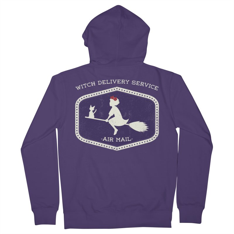 Witch Delivery Service Women's French Terry Zip-Up Hoody by Jason Cryer