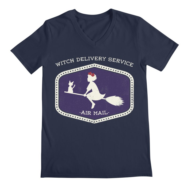 Witch Delivery Service Men's V-Neck by jasoncryer's Artist Shop