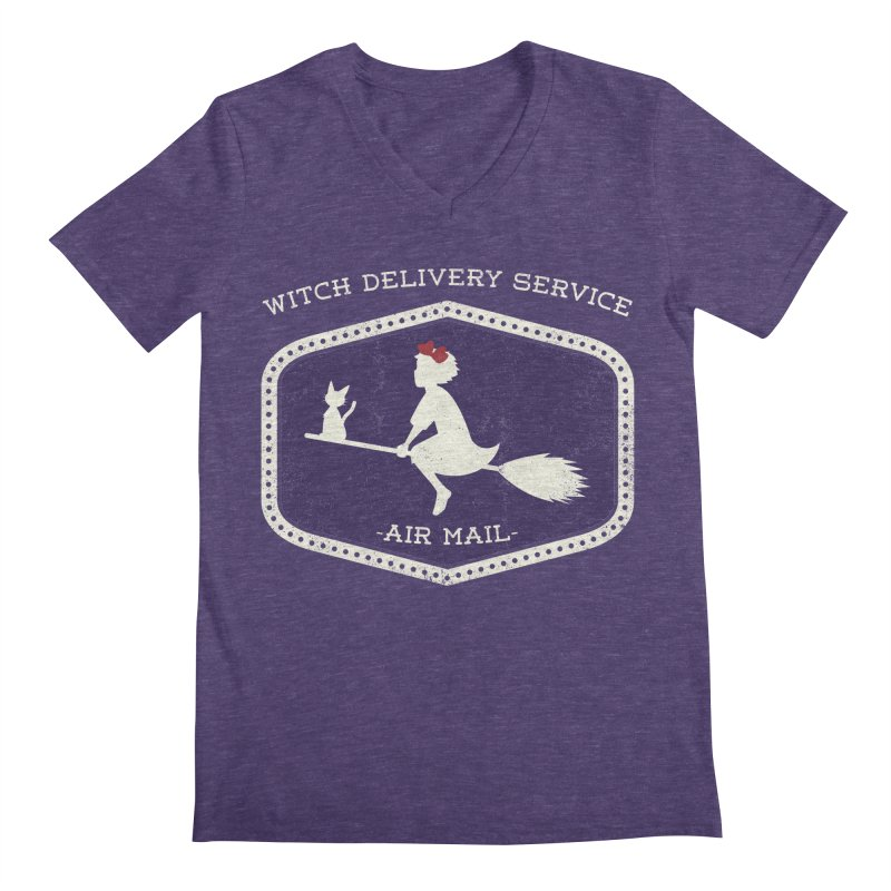Witch Delivery Service Men's Regular V-Neck by jasoncryer's Artist Shop