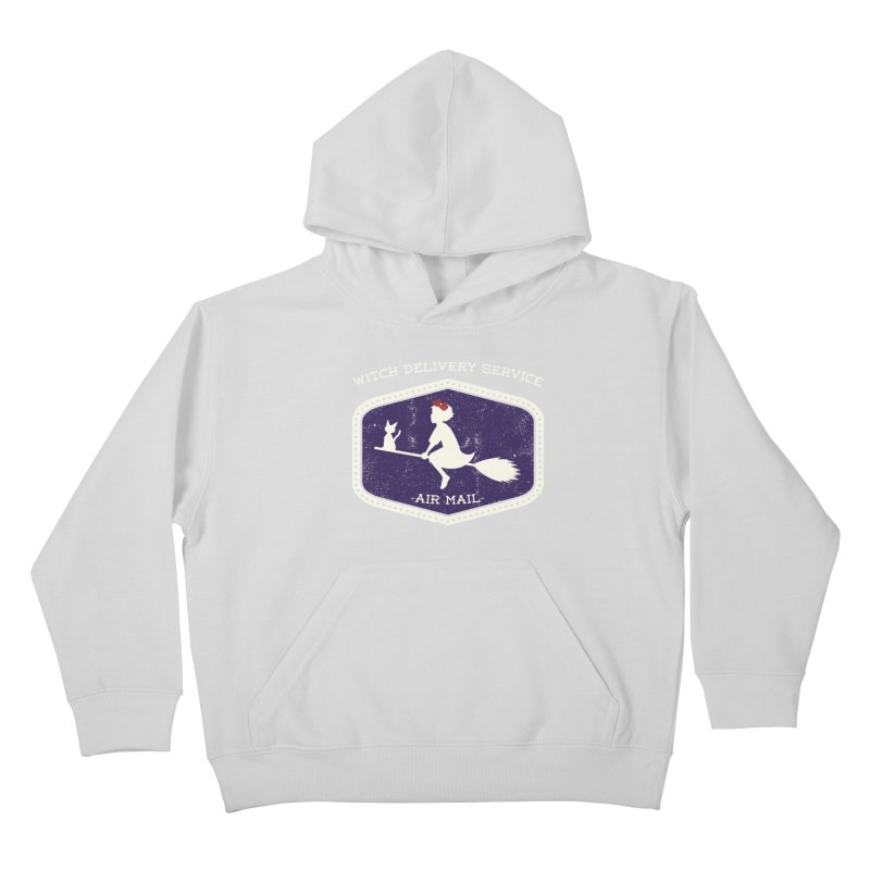 Witch Delivery Service Kids Pullover Hoody by Jason Cryer