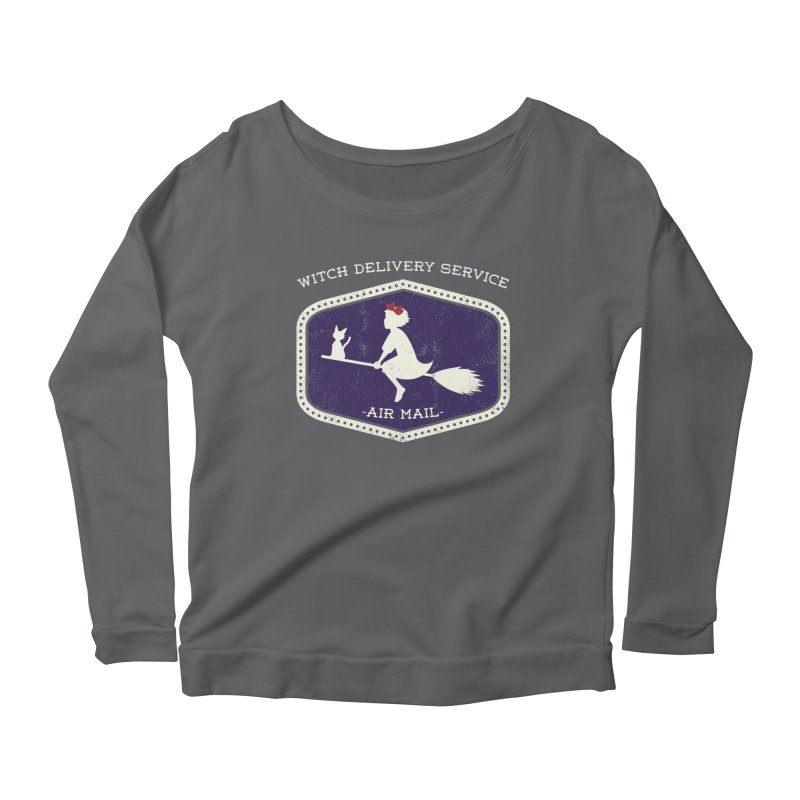 Witch Delivery Service Women's Longsleeve Scoopneck  by jasoncryer's Artist Shop